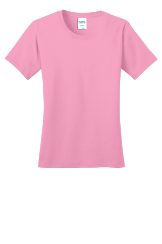 Port & Co Ring Spun Cotton Tee LPC150-Candy Pink-XS