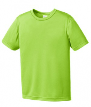 PosiCharge Competitor Tee YST350-Lime Shock-XS
